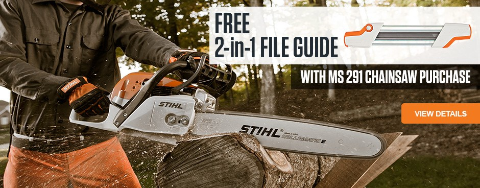 FREE 2-in-1 File Guide with purchase of MS 291 Chainsaw